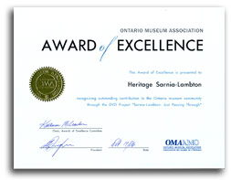 Ontario Museums Association Award of Excellence